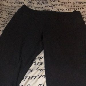 Maurice's Black stretch dress pants, fit at ankle